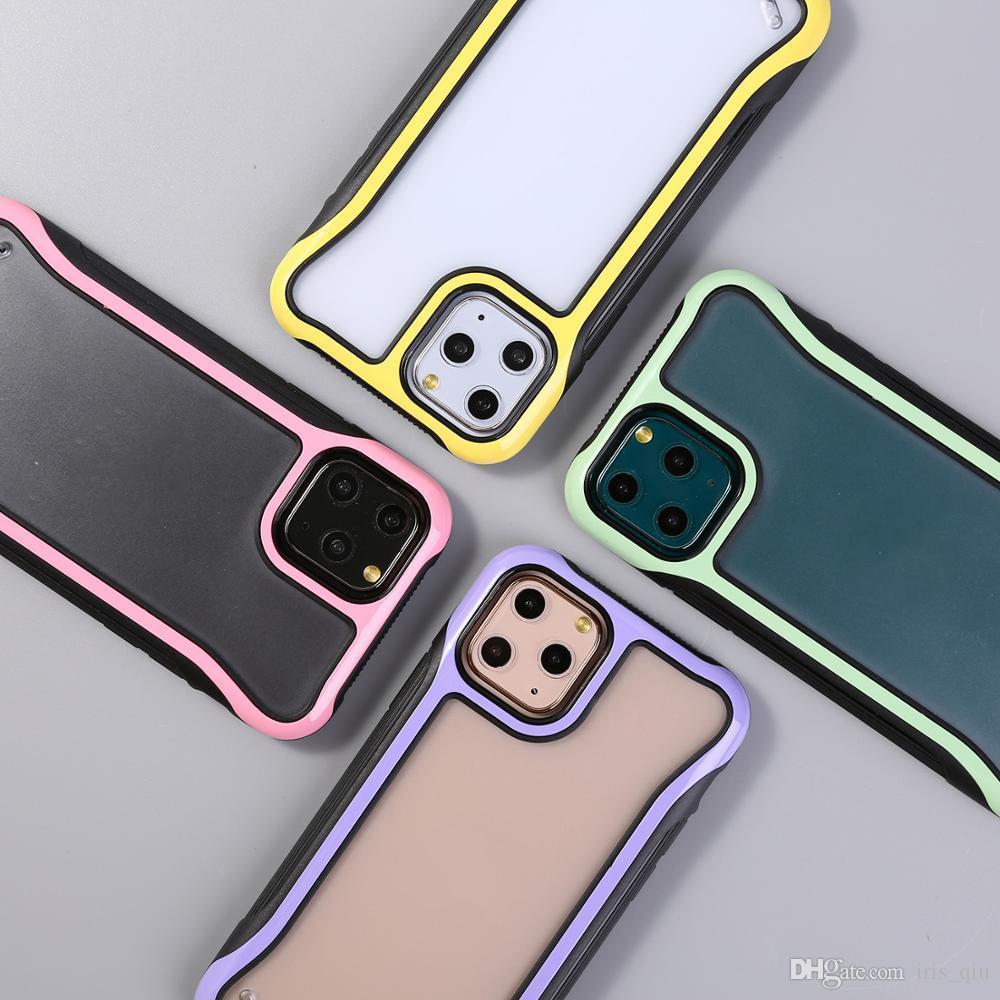 iphone 11 pro maksimum vaka Lüks için tasarımcı telefon kılıfı coque iphone 11 vaka XR XS Karşıtı Düşen telefon durumlar için Şeffaf Kapak Buzlu