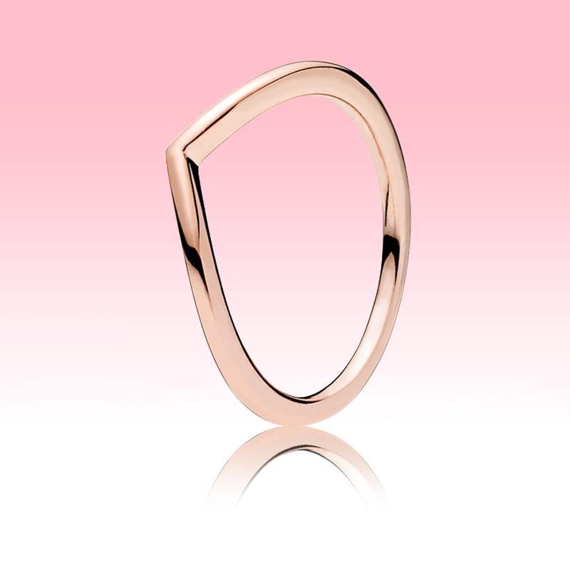 3 couleurs bague de bonds polis en or jaune or rose plaqué or femmes bijoux pour Pandora réel 925 Silver Mens anneaux avec boîte originale