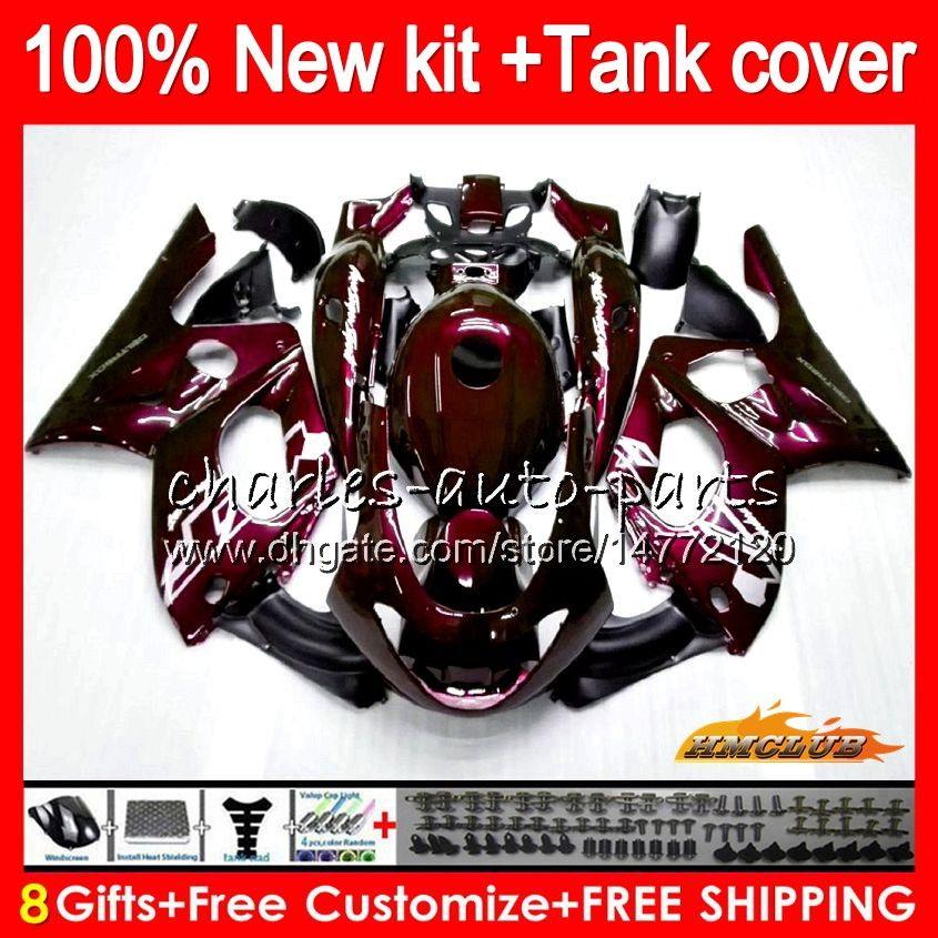 Body For YAMAHA YZF600R Thundercat 96 97 98 99 00 01 02 72HC.0 YZF-600R CC YZF 600R 1996 1997 1998 1999 2000 2001 2002 Fairing ALL Wine red