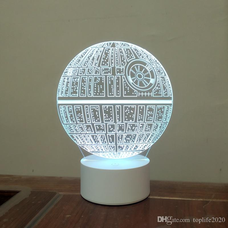 Hotsale Gift For Friend Usb Touch Star Wars Death Star Remote Controller With Battery Bin 3d Small Table Lamp Atmosphere Nightlight Home Decor And