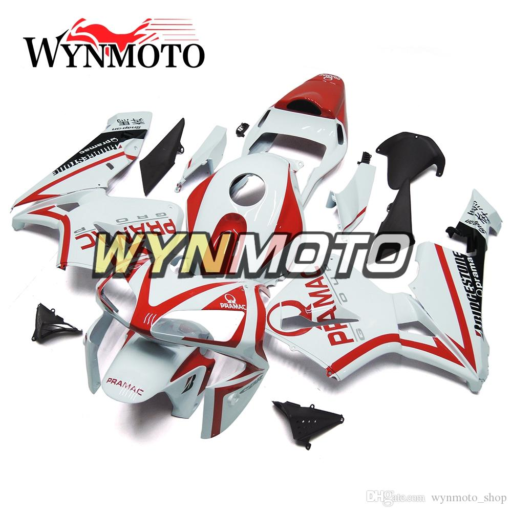 Red Strips White Motorcycle Fairings For Honda CBR600RR 2003 2004 F5 03 04 ABS Plastic Injection motorbike Kits cowlings covers