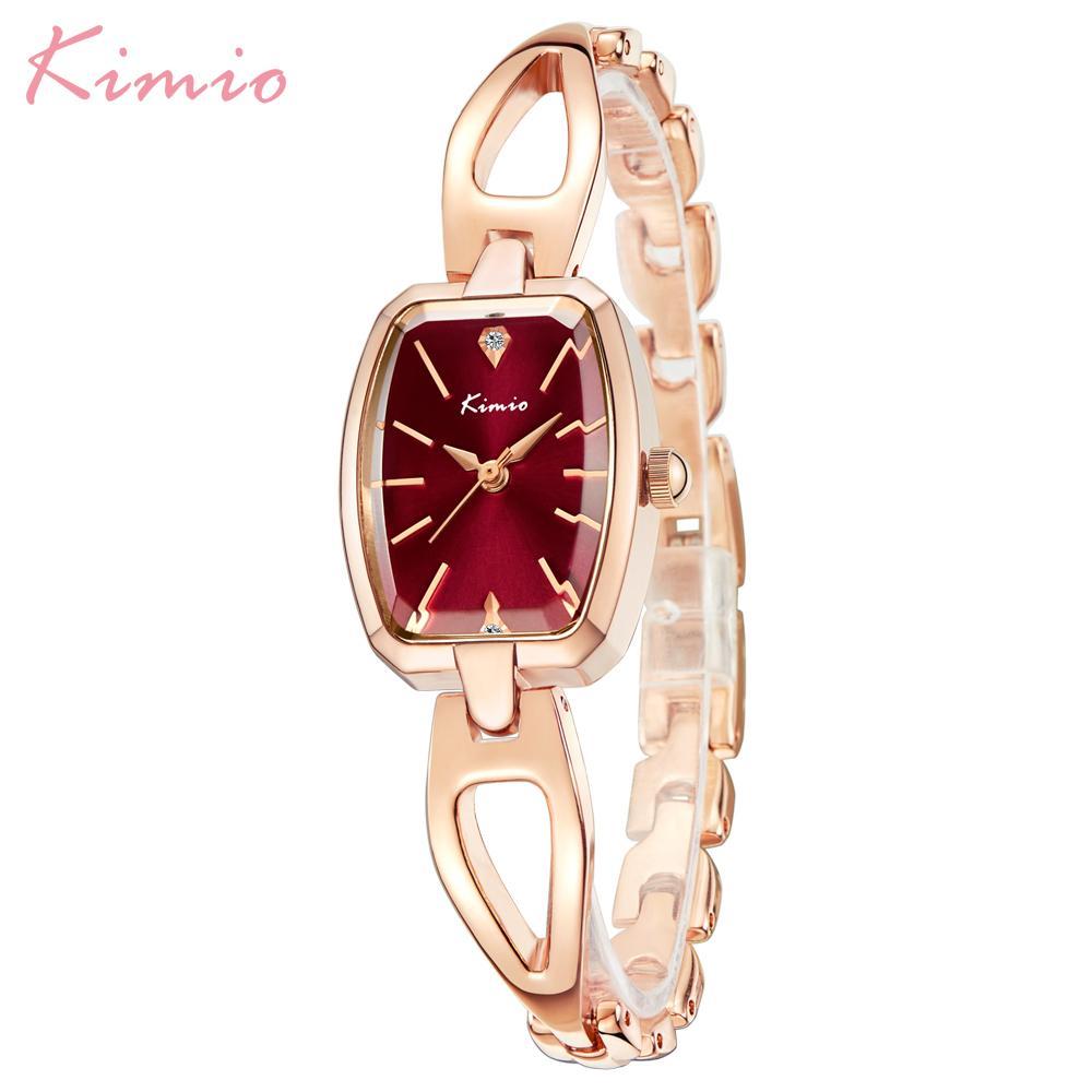 Top Marke Kimio Mode Frauen Uhren Square Dial Kleid Damen Armband Armbanduhr Quarzuhr Relogio Feminino Weibliche Geschenkbox Y19062703