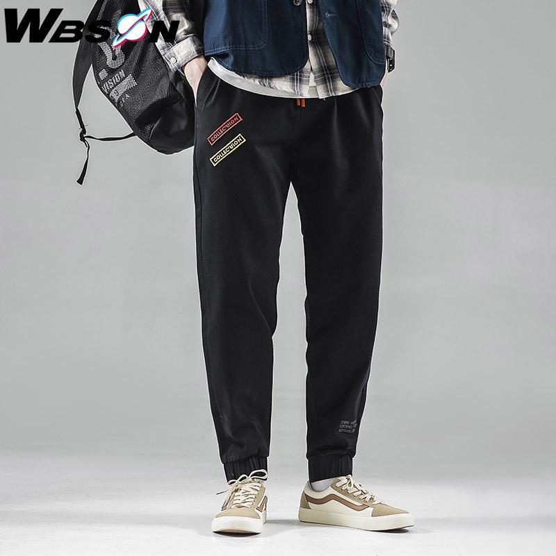 Wbson Denim Joggers tobillo-longitud de los pantalones masculinos lápiz Harem los pantalones vaqueros de los hombres del estilo sport del dril de algodón de los pantalones vaqueros de los hombres clásicos pantalones SYG6602