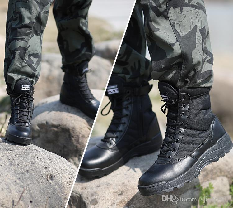 أحذية المشي في الهواء الطلق الأحذية التكتيكية أسود القتالية التمهيد خفيفة الوزن تنفس الصيد أحذية للرجال أحذية تسلق الجبال التدريب