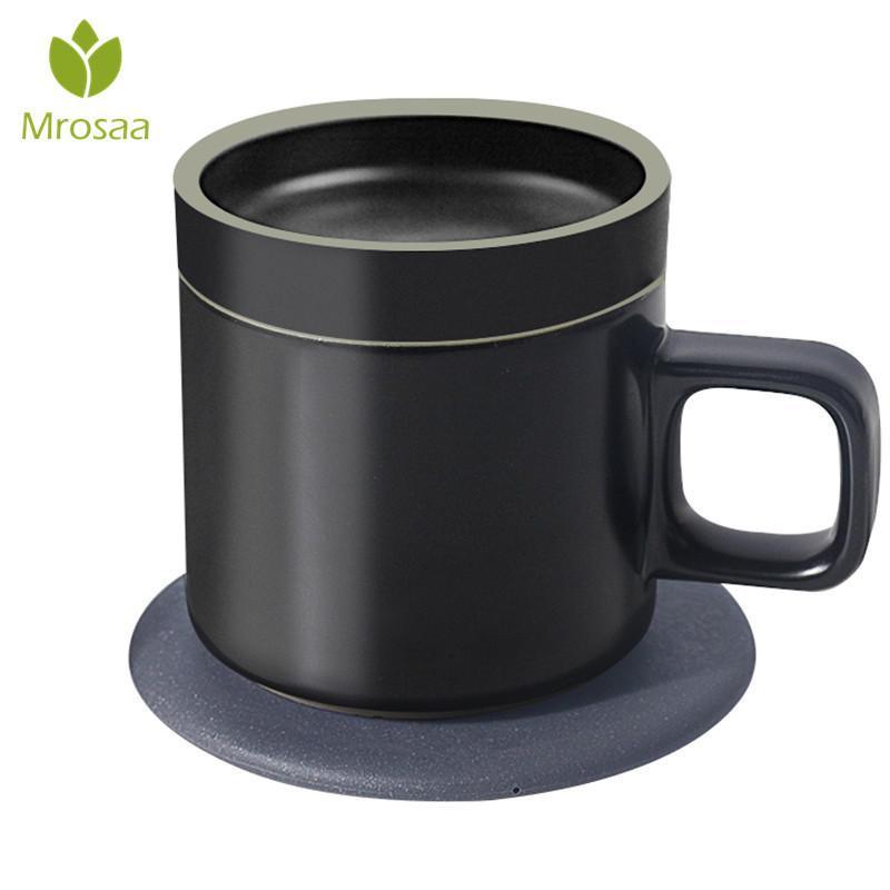 55-grau 250 ml Inteligente de Aquecimento Elétrico Canecas de Café Carregamento Sem Fio Janpan Original Cerâmica Isolamento de Xícara De Café Presente Top Y19070303
