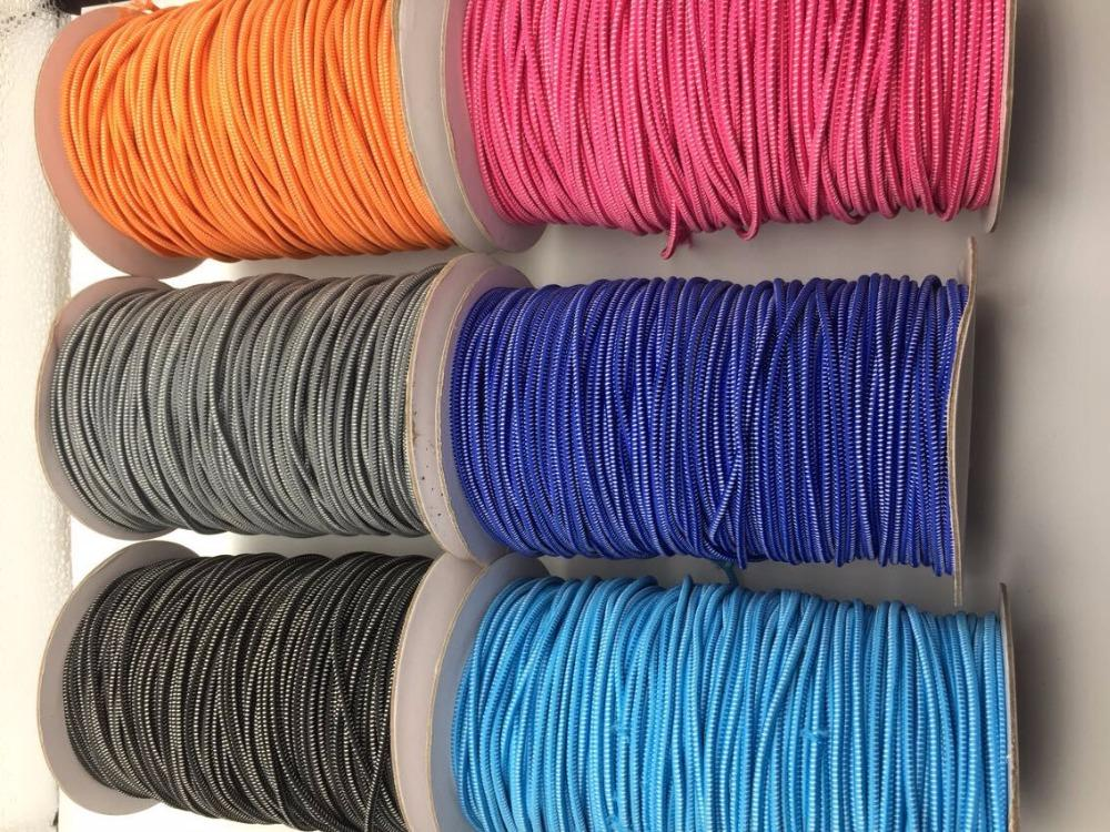 Haute qualité colorée Dotted forte élastique Lacet cordes Cinq mètres / lot