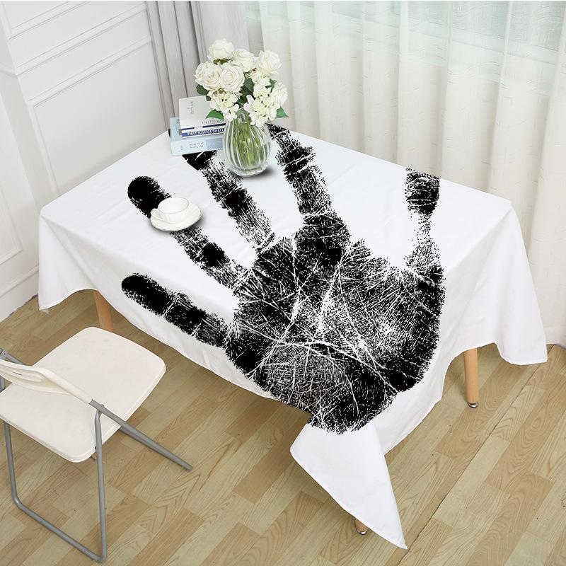 Мультфильм цвет ладони печатной таблицы ткань полиэстер из ткани граффити прямоугольник столовые ткани