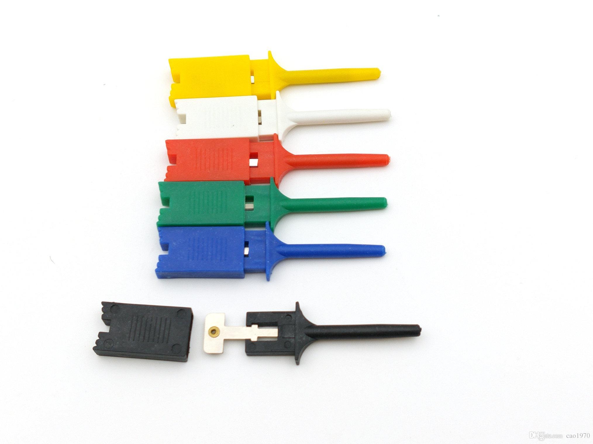 120 قطع pcb smd ic البلاستيك المتر اختبار هوك كليب المنتزع الطائر أداة التحقيق لالمتعدد