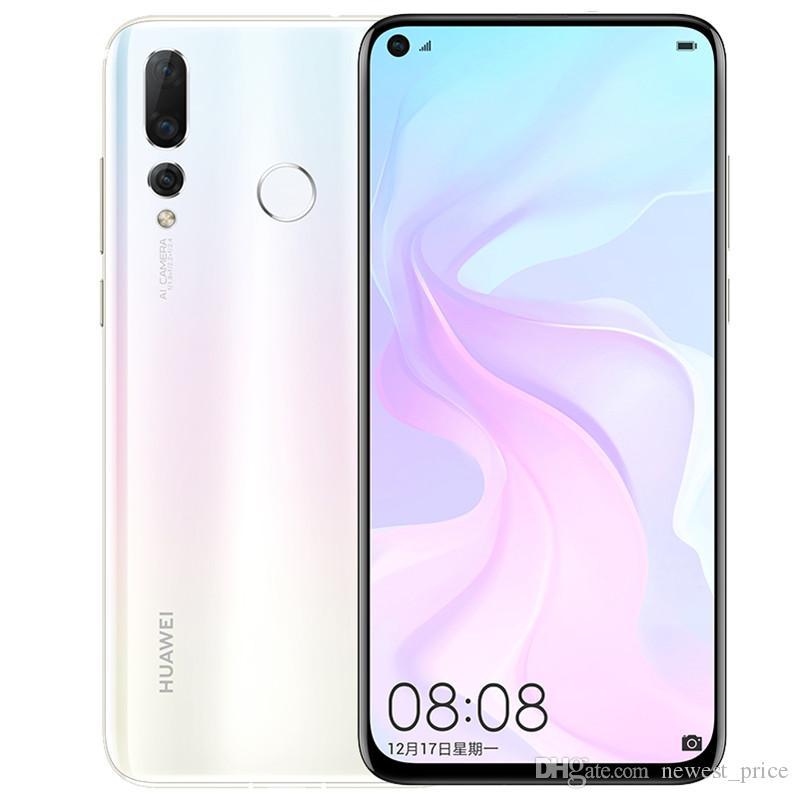 Original Huawei Nova 4 4G LTE Cell Phone 8GB RAM 128GB ROM Kirin 970 Octa Core Android 6.4 inch 48MP Fingerprint ID Face Smart Mobile Phone