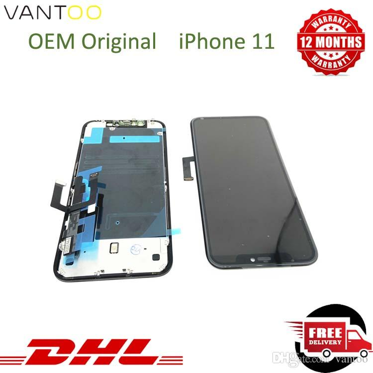 "For iPhone 11 LCD Display Touch Screen Digitizer Assembly For iPhone 11 LCD Replacement 6.1"" inch 100% Tested Well"