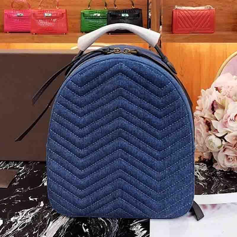 Marmont backpack women denim backpack fashion luxury canvas designer backpacks pearl small new arrive women shoulder bags Mochila 2019