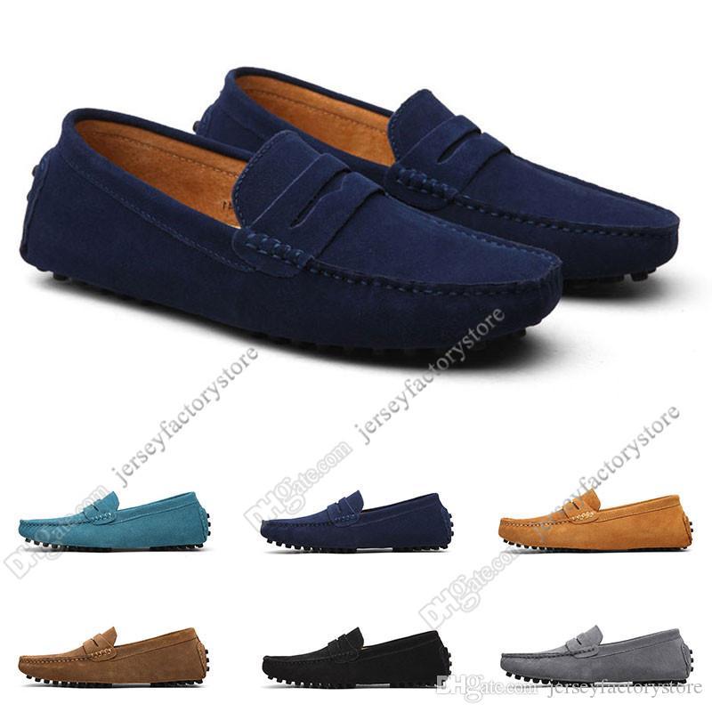 2020 Grande taille 38-49 Nouveau cuir pour homme Chaussures pour hommes Couvre-chaussures Britannique Casual Chaussures Livraison Gratuite Soixante-dix-six