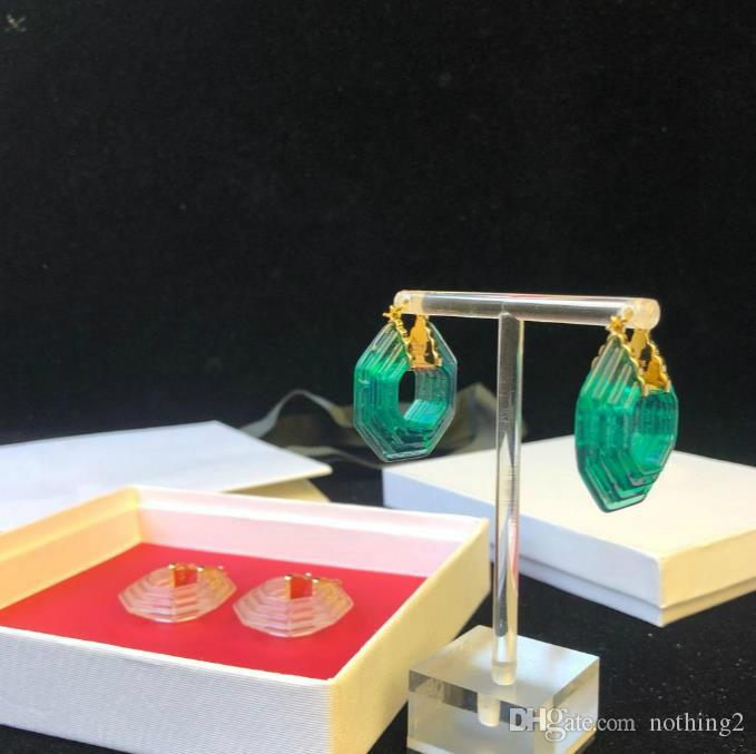 Schmuck Ohrringe Geometric Acrylmaterial Bandohrringe für Frauen Bankett Partei Schmuck Ohrringe 2 Farben