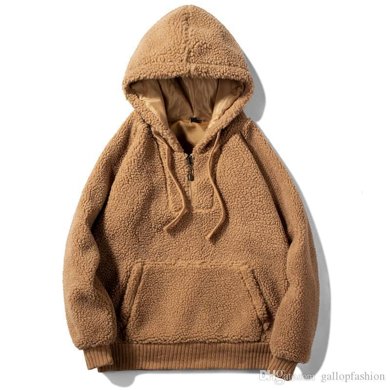 New Stone Monkey Men's Full Zip Long Sleeve Hooded fleece