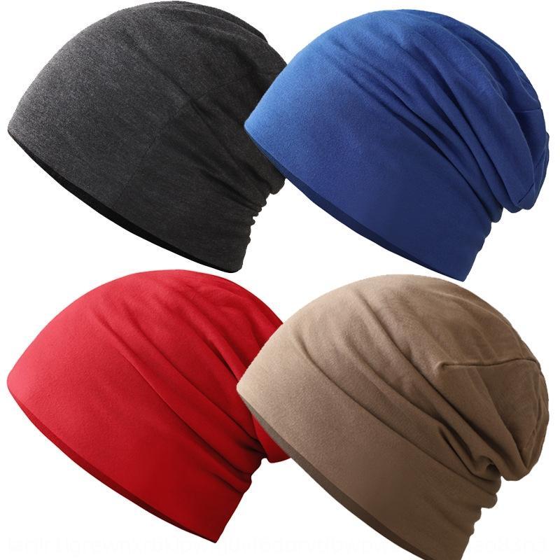 Мужская повседневная осень тонкий хлопок голова пуловер головной убор сплошной цвет дышащий пуловер стека крышка