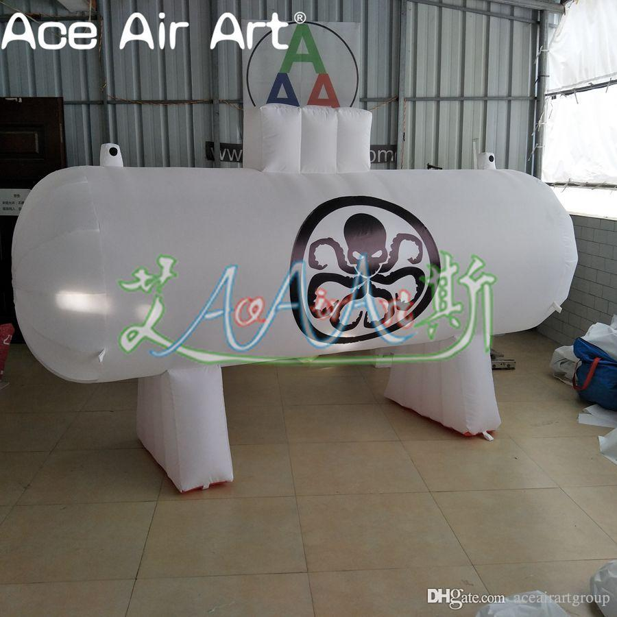 Amazing white inflatable oil tank,inflatable oil tank model inflatable fuel tank car with free blower for trade show/advertising decoration
