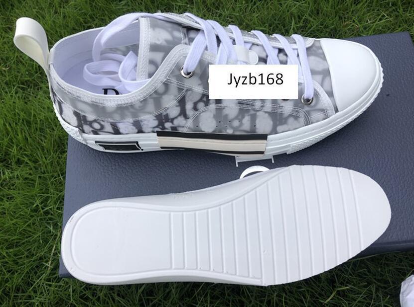 Eğik Erkek B23 Ayakkabı Kadınlar Moda Spor Ayakkabılar içinde yüksek kaliteli Çiçekler Teknik Tuval B23 B24 Yüksek Top Sneakers
