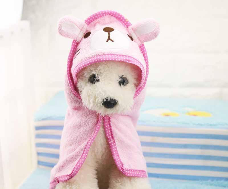 FD58 الحرة الشحن الكرتون كلب منشفة حمام مضحك الكلب غطاء سوبر ماص جرو الكلب القطط حمام دعوى لليوركي