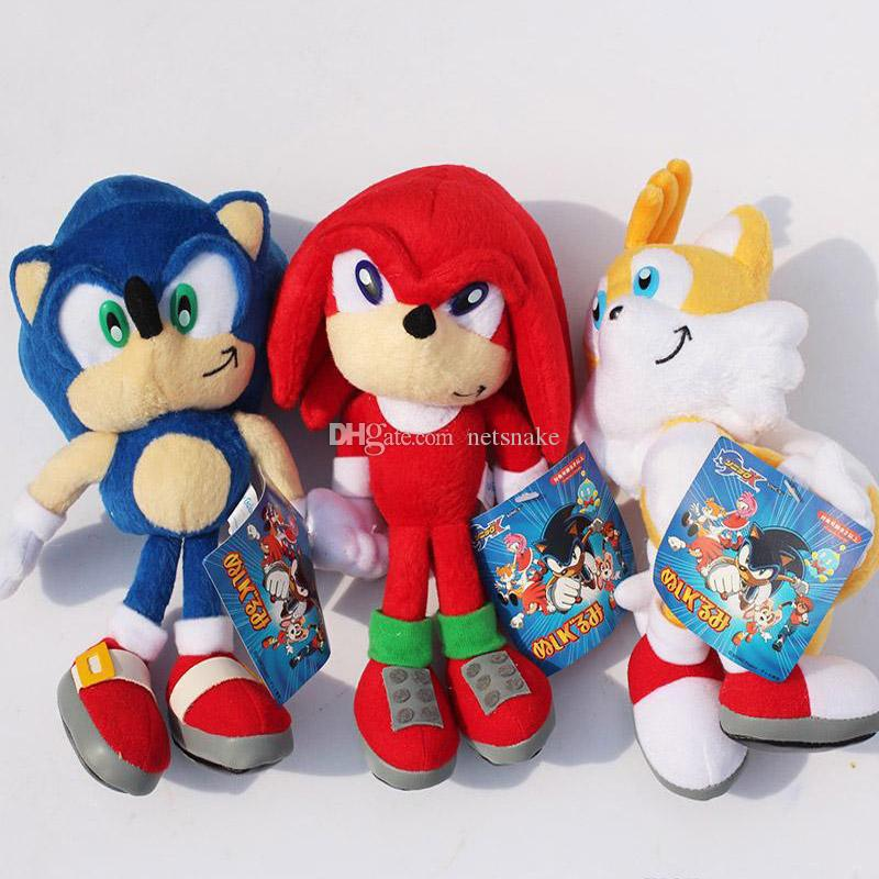 2020 New Arrival Sonic The Hedgehog Sonic Tails Knuckles The Echidna Stuffed Animals Plush Toys With Tag 923cm Free Shippng From Netsnake 5 03 Dhgate Com