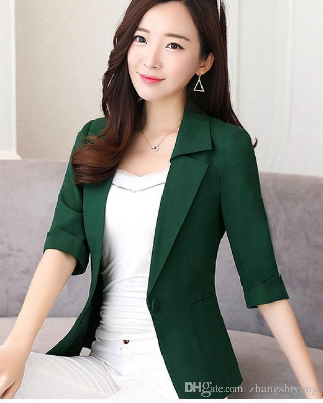 2019 kadın moda ceket ilkbahar ve sonbaharda Yeni stil Orta kollu Batı tarzı giysiler ile