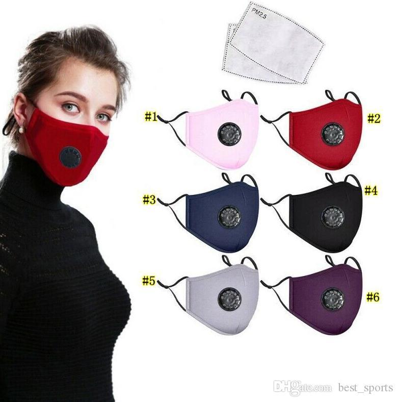 Маски для лица Мужская мода Дыхание Valve РМ2,5 Рот маска Anti-Dust Анти загрязнения может поставить фильтр респиратора Рот-муфельной MMA3320