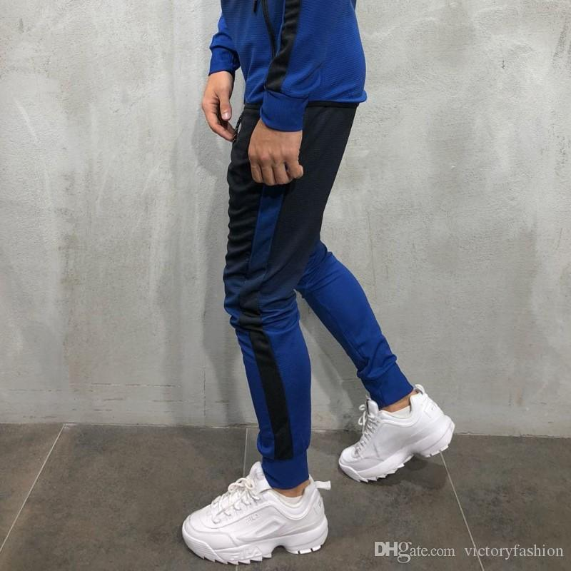 Mens Hip Hop Tracksuits 3D-Gradient-Männer Sports Hosen Herren Sport Sweatshirts Striped Bleistift-Hosen zum Verkauf