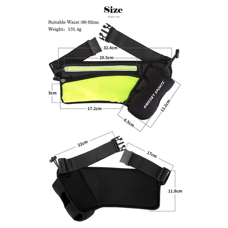 Sports de plein air Poches grande capacité en cours poches Respirant Close-Up Sac Bouteille sport Vide-poches en plein air Pédestre Pocket