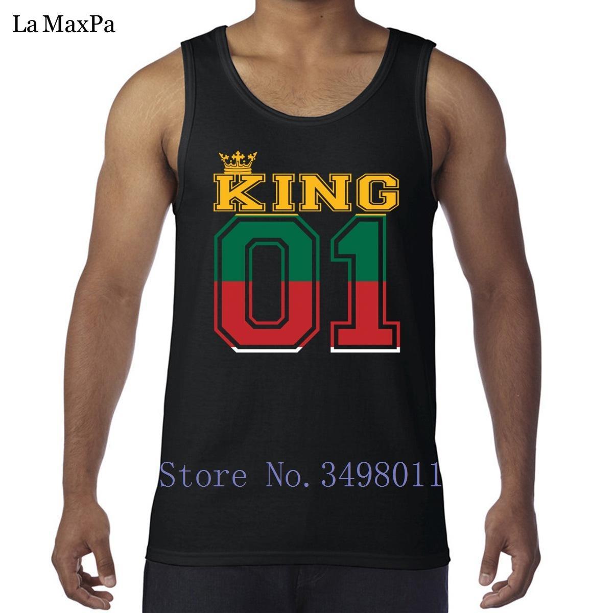 Дизайн Kawaii подарок пара земли король 01 принц топ литва танк мужчин по бодибилдингу Аутентичные мужской жилеты без рукавов спортивной