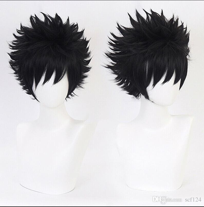 Fãs personagens de banda desenhada Anime Dabi preto peruca de cabelo ondulado Cosplay Exposição PR DFC
