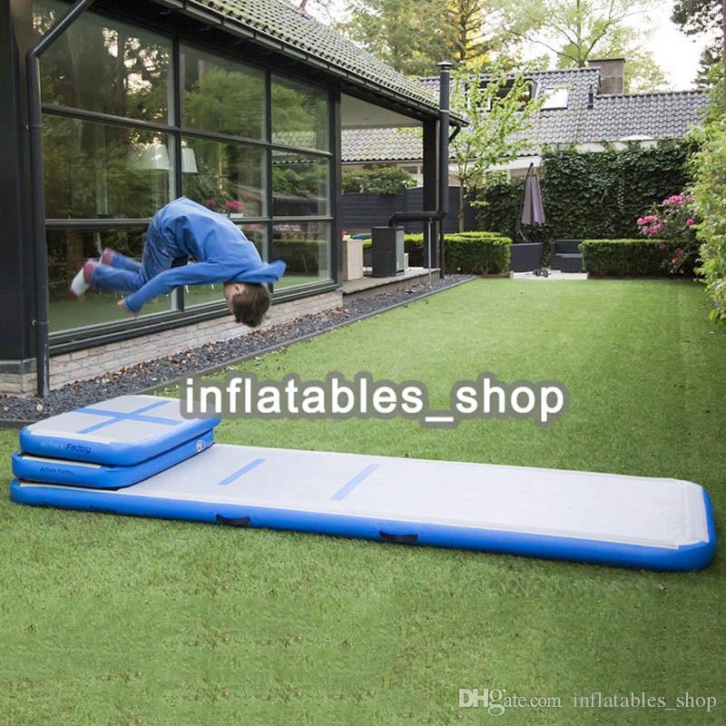 شحن مجاني مجموعة من صغيرة نفخ القفز حصيرة الجمباز الهواء تراجع حصيرة نفخ الهواء المسار ل رياضة استخدام داخلي