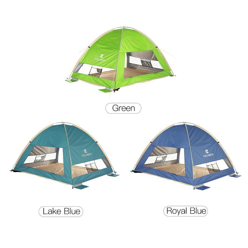لحظة التلقائي شاطئ الظل خيمة المحمولة في الهواء الطلق خيمة التخييم 3 الناس من السهل قافزة حماية من الأشعة فوق مظلة المظلة السفر المشي لمسافات طويلة