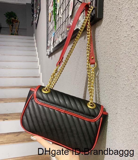2020 Newset диагональные полосы Сумки Любовь сердца V Wave Pattern сумка цепи сумки женщины кошелек из натуральной кожи сумки на ремне