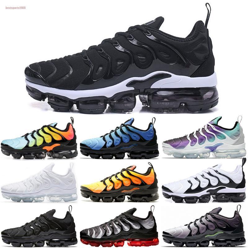 Nike Air TN Plus 2020 Tn Plus Métallique Blanc Argent Triple Noir Hommes Chaussures De Course Tn Plus Formateur Sneaker Chaussures Livraison Gratuite