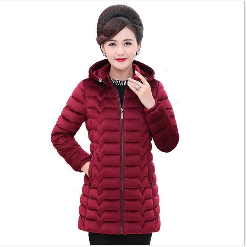 Женщины Parkas Parkas плюс размер женщин 2021 повседневная твердая сгущая теплый с капюшоном длинная зимняя куртка пальто -20 градусов Верхняя одежда 5xLG157