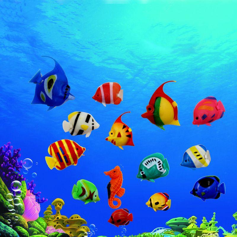 Artificial Fish for Aquarium Decoration akvaryum Float Jellyfish Vivid Landscape Fish Tank Tropical Aquarium Accessories