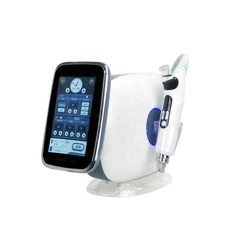 3 en 1 EMS Microneedle RF machine Aucune aiguille Meso mésothérapie Pistolet Injector lifting visage Injection d'eau Anti vieillissement Salon Équipement de beauté