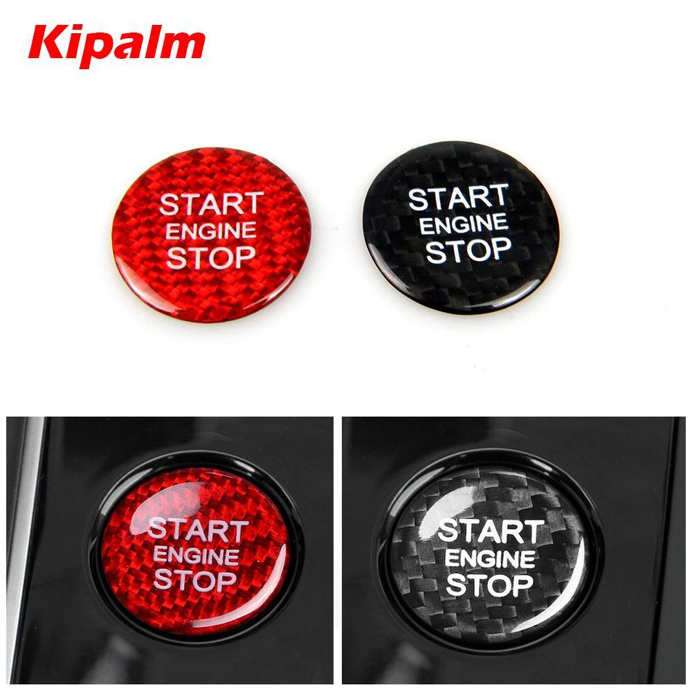 الألياف Kipalm ريال الكربون تشغيل المحرك غطاء زر ملصقات ديكور لأودي A4 A5 A6 A7 C7 Q3 Q5 Q7 ابدأ إيقاف زر ملصق تغطية تريم
