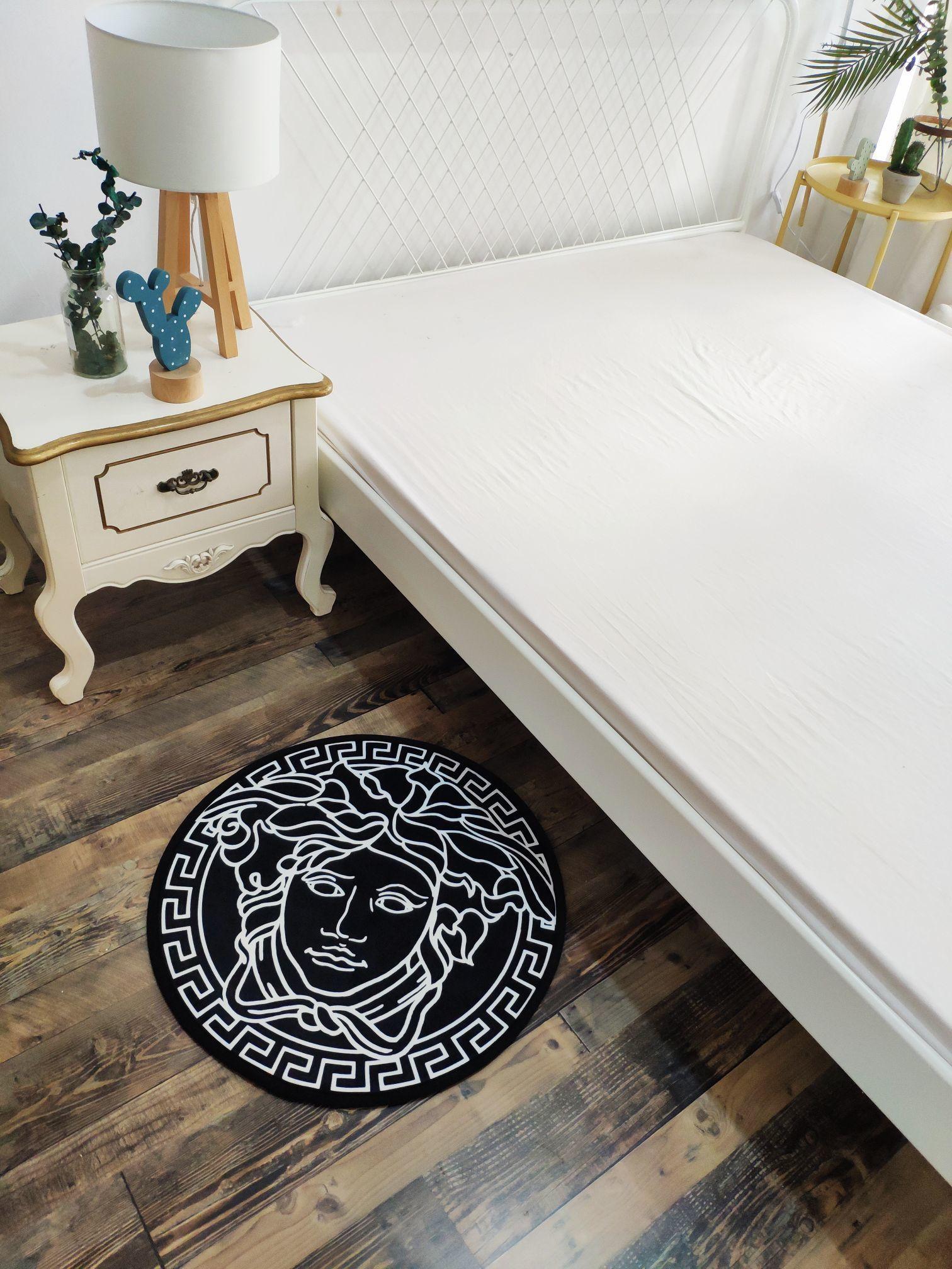 Gold Life Tree Bath Mat Bathroom Carpet Bedroom Decor Flannel Floor Rug Non-Slip