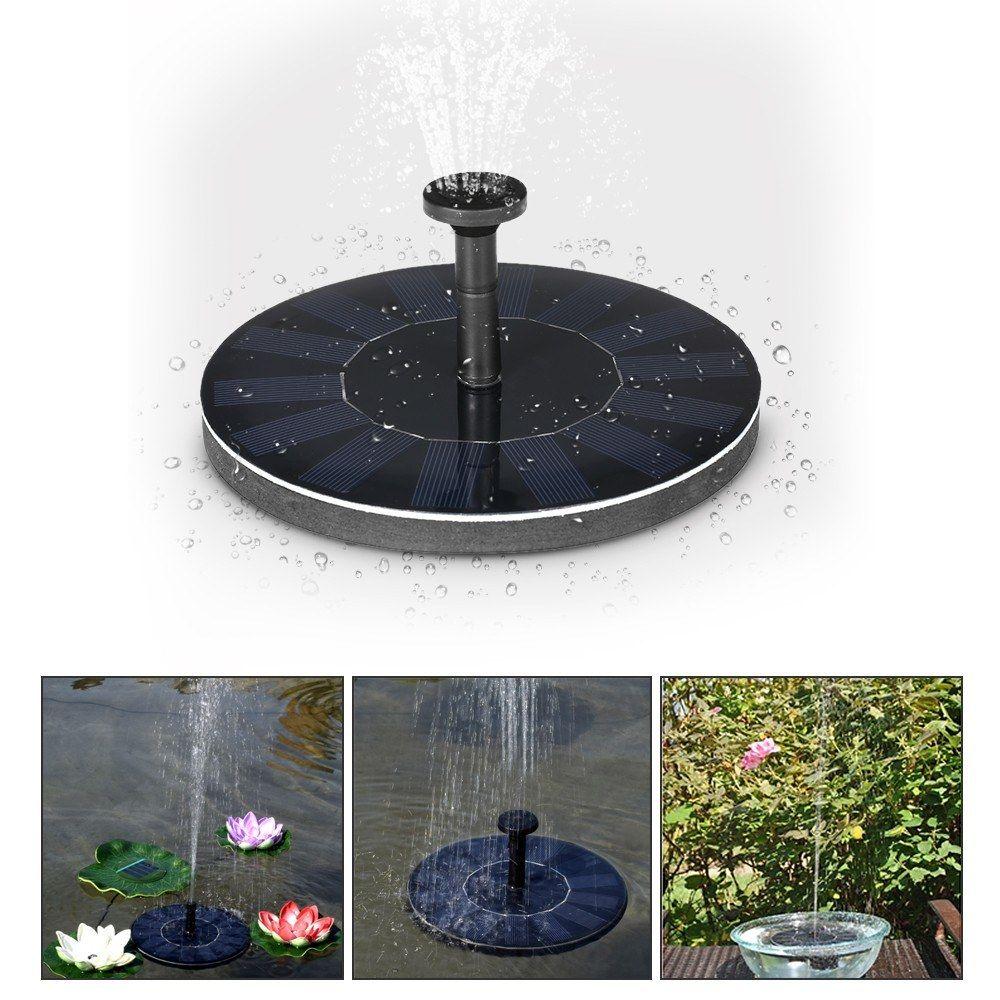 Solar Power Fountain Brushless Water Pump Garden Plants Bird Bath Fountains For Pool Aquarium Submersible Floating Pond