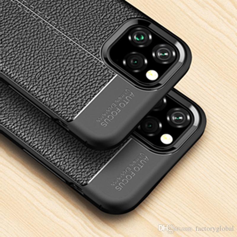 New Luxury Phone Case Full Deckung TPU Litchi Pattern Telefonabdeckung für iPhone 11 Pro Max Samsung S10 E Plus