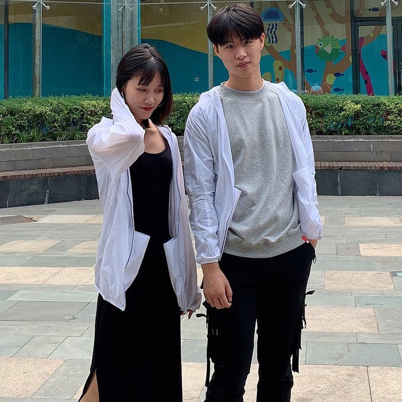 Pele roupa Primavera E Verão ao ar livre Coat para homens e mulheres casal modelos finos resistente ao vento respirável Zhang Xiu yi Trench pele