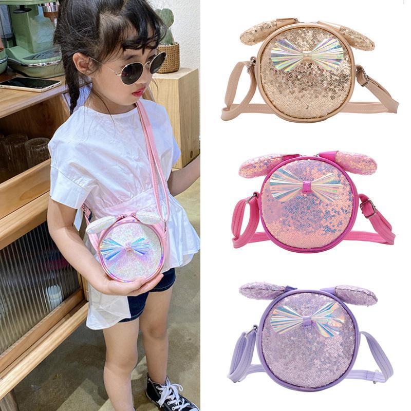 Mini bolso de regalo para niños 2020 Pouch Niños Niños Pequeña niña Caja de cartera linda Messenger Coin Princess Shinny Lentejuelas Bolsa Coreano Rglrt