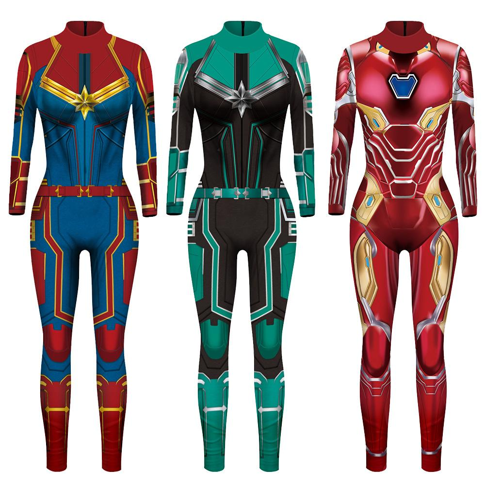 Vip Fashion 2019 New 3d Super Hero Captain Costume Cosplay Women Marvel Movie Jumpsuit Costumes For Women Plus Size Jumpsuit Halloween Costumes For Teams Halloween Group Theme Costumes From Gesentur 16 25 Dhgate Com Marvel carol danvers cosplay costume upgrade(no mask). vip fashion 2019 new 3d super hero