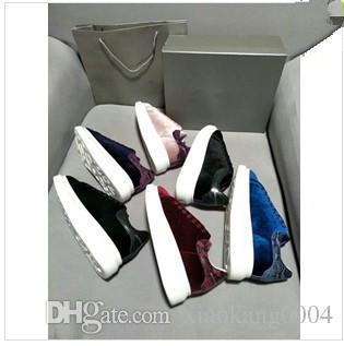 Tasarımcı Erkekler Kadınlar Sneakers Bayanlar kızlar Deri Flanş Wrap Günlük Ayakkabılar Klasik Balck Saf Beyaz erkek bayan ayakkabı 040334