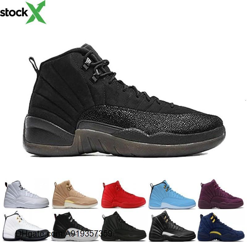 Sıcak satış 12 12s erkek Jordon basketbol ayakkabıları spor ayakkabıları siyah beyaz Playoff MASTER Gym gama mavi 12s erkek spor ayakkabıları kırmızı 7-13