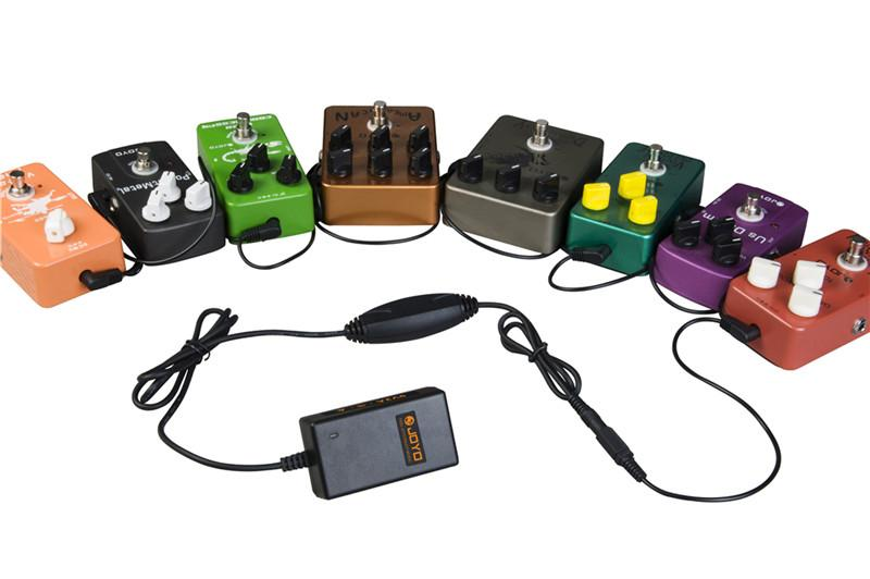 Elektro Gitar Efekt Pedal için JOYO JP-03 DC 9V 2000mA Güç Kaynağı Çoklu fiş 8 kablo