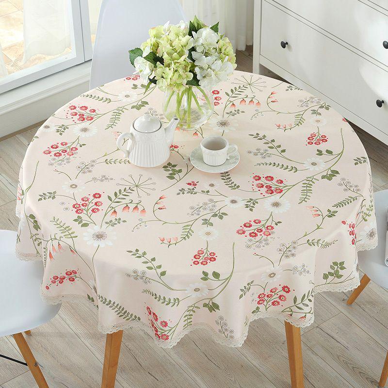 Europäische Tischdecke Baumwolle Leinen Essen Dekoriert Mediterraner Stil Can Wash Die Tischdecke Öl und Wasser-Beweis T200703