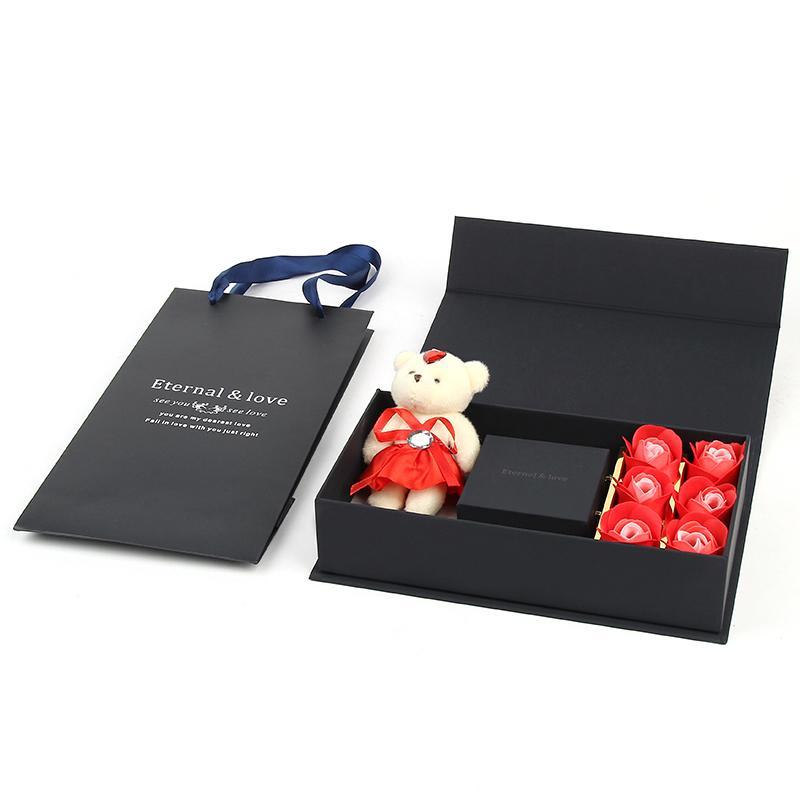 ارتفع الدب هدية مربع، مربع الدائري، قلادة مربع، مربع والمجوهرات الإبداعية لهدية عيد ميلاد صديقتك