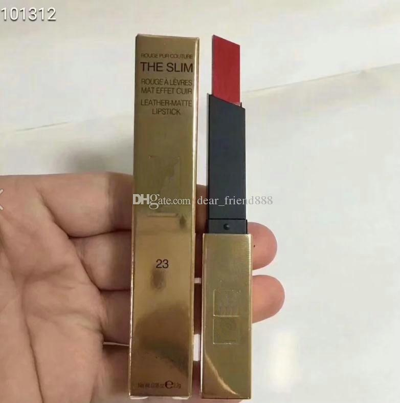 FREE SHIPPING New Arrival brand the slim leather matte lipstick lip Color full size makeup LIPSTICK 12pcs/lot