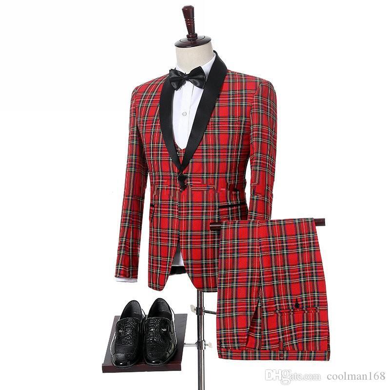 На заказ решетки жених смокинги черный отворот жениха мужские свадебное платье популярные человек куртка блейзер 3 шт костюм (куртка + брюки + жилет + галстук) 1019